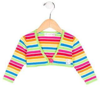 Agatha Ruiz De La Prada Girls' Striped Long Sleeve Shrug