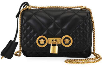 e607950f4f99 Versace Icon Small Quilted Napa Leather Crossbody Bag with Medusa Detail