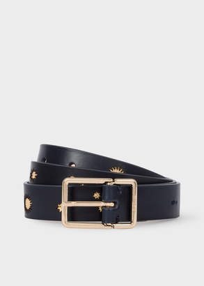Paul Smith Women's Navy 'Gold Star' Leather Belt