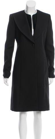 Balenciaga Balenciaga Velvet-Trimmed Virgin Wool Coat w/ Tags