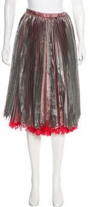 Issey Miyake Pleated Laser Cut Skirt