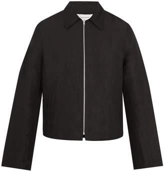 Wales Bonner Lightweight zip-up linen-blend jacket