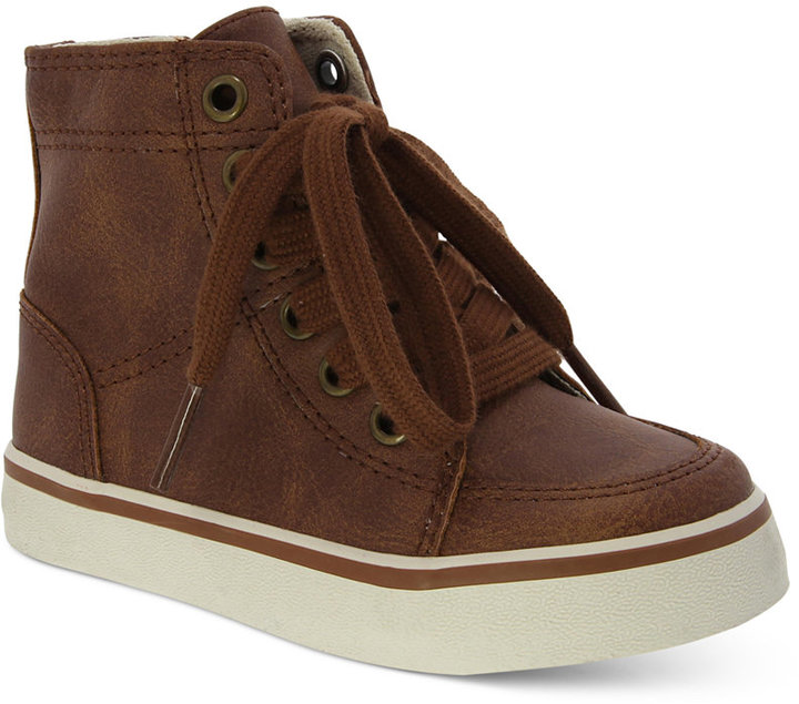 Elements by Nina Little Boys' Hi-Top Lace-Up Sneakers