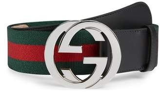 Gucci Logo Buckle Interlock Belt