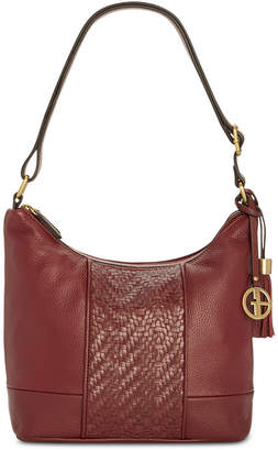 Giani Bernini Pebble Leather Double-Zip Hobo, Created for Macy's