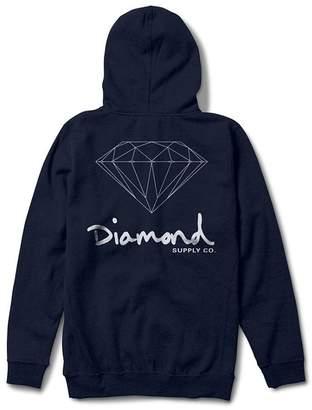 Diamond Supply Co. Men's OG Sign Zip-up Hoodie Navy 3XL