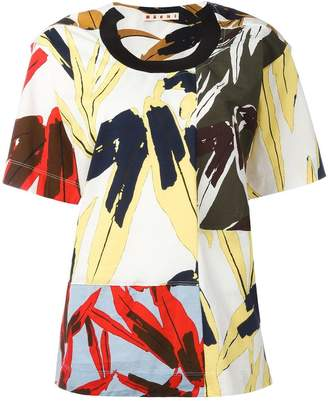 Marni mixed print T-shirt