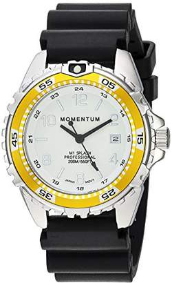 Momentum Women's Quartz Watch | M1 Splash by Momentum| Stainless Steel Watches for Women | Dive Watch with Japanese Movement & Analog Display | Water Resistant Ladies Watch with Date –Lume/Yellow Rubber