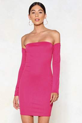 Nasty Gal All Day Long Off-the-Shoulder Dress