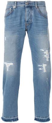 Ermanno Scervino distressed straight jeans