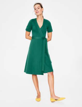 Boden Mira Ponte Wrap Dress