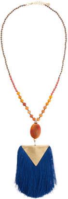 Nakamol Fringe Hammered Pendant Necklace