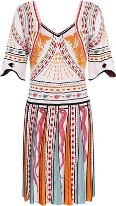 Roberto Cavalli Jacquard-knit Mini Dress