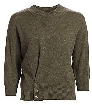 3.1 Phillip Lim Women's Three-Quarter Sleeve Pinch Cashmere Sweater