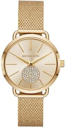 Michael Kors Portia Goldtone Mesh Bracelet Watch