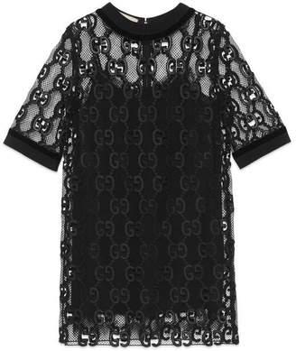 Gucci GG leather macramé dress