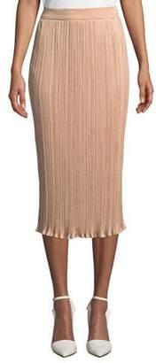 Max Mara Emmy Slim Plisse Midi Skirt