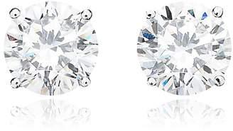 Crislu 4.00 cttw Brilliant Cut Cubic Zirconia Stud Earring