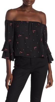 Honeybelle Honey Belle Off The Shoulder Floral Detailed Top