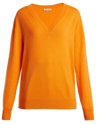 Tomas Maier V Neck Cashmere Sweater - Womens - Orange