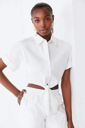 Lucca Couture Vera Tie-Front Top