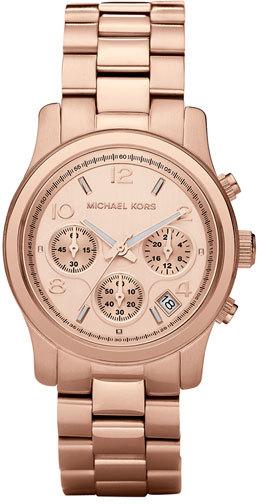 MICHAEL Michael Kors Michael Kors 'Runway' Rose Gold Plated Watch, 37mm