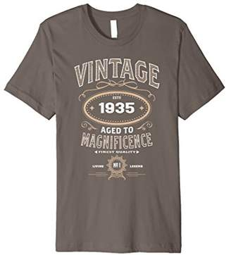 Vintage Aged To Magnificence 1935 83rd Birthday Gift T-shirt