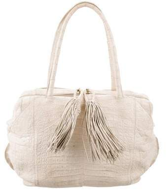 Nancy Gonzalez Tassel Accented Crocodile Shoulder Bag