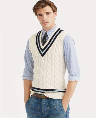 Ralph Lauren Cotton Cricket Sweater Vest