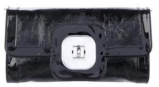 Longchamp Patent Leather Gatsby Clutch