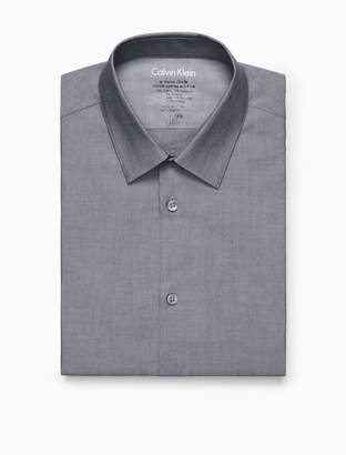 Calvin Klein x fit charcoal chambray dress shirt
