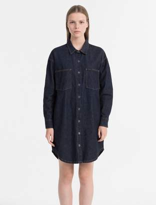 Calvin Klein relaxed fit denim shirt dress