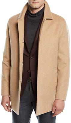 Mandelli Men's Unlined Cashmere Top Coat