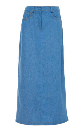 Agnona Long Denim Skirt