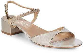 Salvatore Ferragamo Maddie Leather Open Toe Sandal