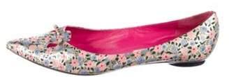 Marc Jacobs Metallic Floral Flats Pink Metallic Floral Flats