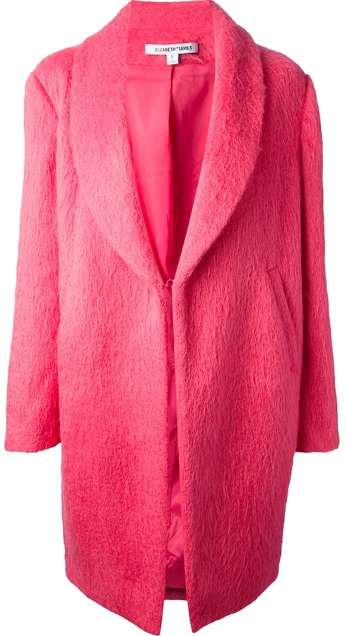 Elizabeth and James shawl collar coat