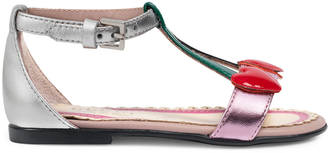 Toddler metallic leather sandal $395 thestylecure.com