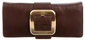 Michael Kors Leather Buckle Clutch $95 thestylecure.com