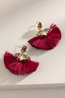 francesca's Londyn Tassel Earrings in Magenta - Magenta