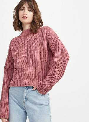 Miss Selfridge Chenille tie back knitted jumper