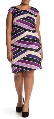 Vince Camuto Printed Scuba Sheath Dress (Plus Size)