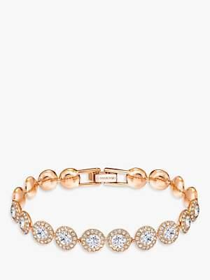 Swarovski Angelic Round Crystal Bracelet, Rose Gold
