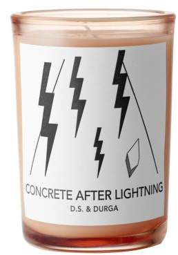 D.S. & Durga Concrete After Lightning Candle/7 oz.