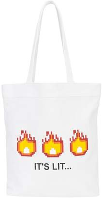 Mostly Heard Rarely Seen 8-Bit It's Lit tote