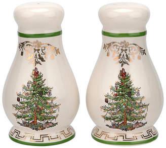 Spode Set of 2 Christmas Tree S & P Shakers - Ivory