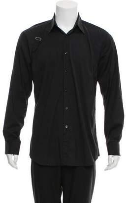 Alexander McQueen Harness-Accented Woven Shirt
