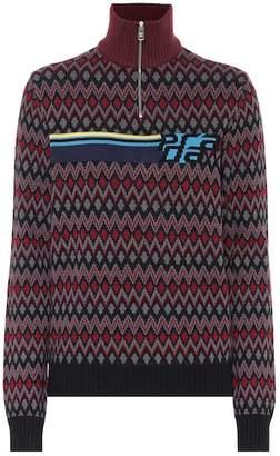 Prada Intarsia wool and cashmere sweater