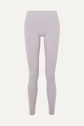 Varley Boden Perforated Stretch Leggings - Light gray