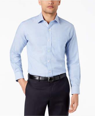 Club Room Men's Reg-Fit Pinpoint Solid Dress Shirt